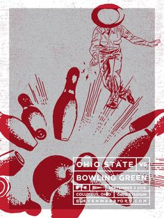 9-3-2016 GAME #1 BOWLING GREEN VS. THE, GAME POSTER BY WALT KEYS.