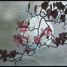 Robert Oddy stained glass - Magnolia #4