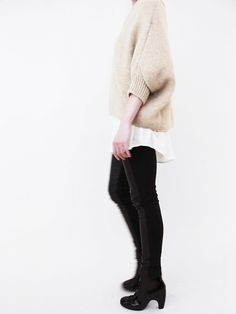 Evam Eva Cross Collar Sweater « Pour Porter