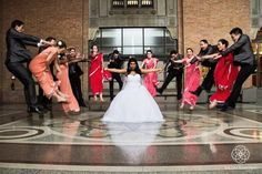 funny wedding photo idea, over 9000