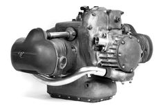 A genuine 1939 BMW RS255 'Kompressor' engine formed the heart of the re-created machine which sold...