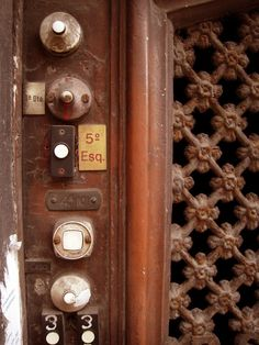 door bells - so many that makes my hands itch to ring them all at once