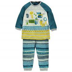 Two-Piece Pajamas / Mini héros des bois Pyjama deux pièces Bleu à motifs Souris Mini