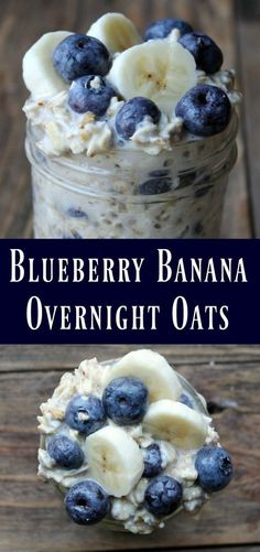 Blueberry Banana Overnight Oats Recipe. This is a delicious oats in a jar recipe filled with blueberries, bananas, and wholesome oats. Perfect make-ahead recipe to prepare on meal prep day.