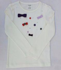 Gymboree Winter Penguin Girls Ivory Bows & Gem Long Sleeve Shirt Sz 6 NWT  #Gymboree #DressyEverydayHoliday