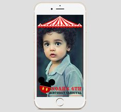 Mickey Mouse Circus Snapchat Filter   Snapchat Geofilter   Mickey Mouse Carnival   Birthday Snapchat Filter   Birthday Filters   Snapchat by MustHaveThese on Etsy