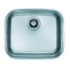 Alveus Variant 10 48 cm x 40 cm Kitchen Sink Alveus Pop Up, Ceramic Undermount Sink, Plastic Industry, Single Bowl Kitchen Sink, Sink Taps, Kitchen Accessories, Stainless Steel, Ceramics, Collection