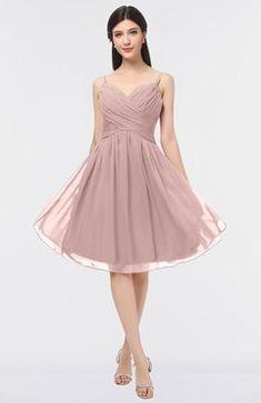 086e6ea6b437 ColsBM Alisha Blush Pink Sexy A-line Sleeveless Zip up Knee Length Ruching Bridesmaid  Dresses