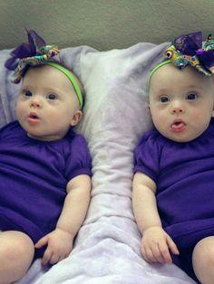 Darling twin baby girls!