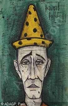 Prices and auction sale details for tete de clown, Drawing-Watercolor by artist Bernard BUFFET Broken Heart Drawings, Paula Modersohn Becker, Clown Paintings, Franz Marc, Illustrator, Edvard Munch, Send In The Clowns, Vintage Circus, Pierrot
