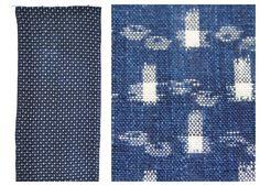 Soft IKAT. Japanese Indigo Kasuri Cotton. Fine, Light and Beautifully Soft. (Ref: 224). ¥3,000, via Etsy.