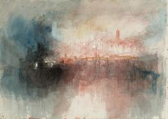 Joseph Mallord William Turner 'Fire at the Grand Storehouse of the Tower of London', 1841