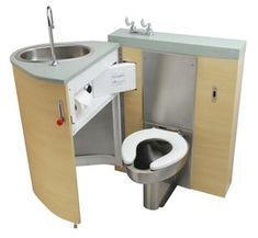 Toliet can be hidden/pushed out of view. Tiny home idea? - Back Waste Outlet, Fixed Toilet with Pivoting Toliet can be hidden/pushed out of view. Tiny home idea? - Back Waste Outlet, Fixed Toilet with Pivoting Oval Lavatory Cabinet Cargo Trailer Camper, Truck Camper, Rv Campers, Sprinter Camper, Ideas Baños, Kombi Home, Camper Van Conversion Diy, Van Living, Van Camping