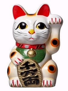 The Maneki Neko ( AKA beckoning cat) is an ancient tradition symbol of luck and fortune in Japan. This is one superstition I thoroughly believe in and follow religiously. The cat breed is the Japanese Bobtail. This is also the inspiration for my tattoo!