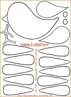 Bonjour,Voici le gabarit pour fabriquer un oiseau à suppendre ou à accrocher ![/COLOR][/SIZE] [SIZE=18][COLOR=purple][b]Ça peut ... Diy Crafts For Kids, Projects For Kids, Corner Bookmarks, Pink Nail Art, Paper Birds, Spring Projects, Bird Crafts, Stuffed Animal Patterns, Punch Art
