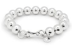 Silver Bracelet, rounded bead