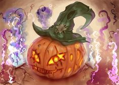 #paintablepumpkin - Digital Art! Pumpkin Carving Challenge :3 Orange Hats, Light Painting, Halloween Pumpkins, Pumpkin Carving, Challenges, Purple, Metal, Green, Digital Art