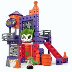 Fisher-Price TRIO DC Super Friends Joker's Laugh Lab by Fisher-Price. $13.69. Trio building sets help encourage creativity and imagination. Sized just right so kids can quickly build sets to play with. The set includes a variety of bricks, sticks, and panels plus unique specialty pieces. Kids can hear and feel the click when they've made the connection. The Trio Joker Laugh Factory set provides more ways for kids to build their creativity. From the Manufacturer              ...