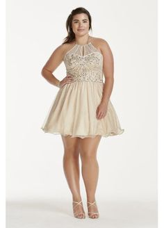2017 New Sleeveless Halter Crystal Beading Chiffon A-Line Homecoming Dresses vestido tulle mini short Party Dresses Prom Gown Prom Dresses 2015, Prom Gowns, Party Dresses, Bridesmaid Dresses, Plus Size Skater Dress, Plus Size Prom Dresses, Formal Dresses, Tulle Ball Gown, Ball Gowns