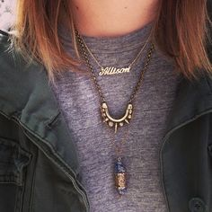 #howtowear layered necklaces - keep it simple, 3 is all you need! #annalouoflondon