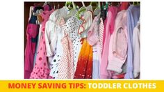 How to maximize savings on toddler clothes.