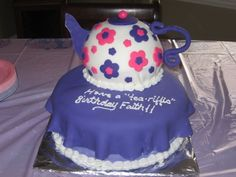 Tea Pot cake By trixie651999 on CakeCentral.com