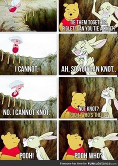 Probably the best piece of Winnie-the-Pooh comic! This made me smile a lot. Presnell all Winnie-the-Pooh stuff reminds me of you! Disney Pixar, Disney And Dreamworks, Humor Disney, Disney Quotes, Disney Love, Disney Magic, Pooh Bear, Funny Cute, Mom Funny
