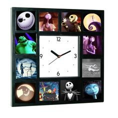The Nightmare Before Christmas Glow In The Dark Clock Limited numbered edition Say goodbye to small, round, one image cookie cutter clocks. Nightmare Before Christmas Clock, Clock Numbers, Christmas Bathroom, Hedgehog Art, Oogie Boogie, Jack And Sally, Jack Skellington, Fall Halloween, Halloween 2020