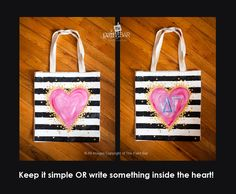 Striped Heart Bag www.thepaintbar.com