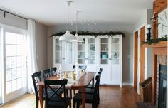 holiday dining room | white house black shutters