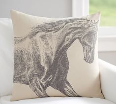#LGLimitlessDesign & #Contest Etched Horse Print Pillow Cover #potterybarn