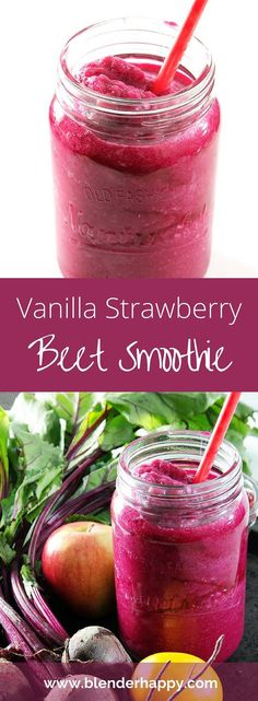 Looking for a quick, easy and filling vegan breakfast or snack? This Vanilla Strawberry Beet Smoothie is tasty and will keep you fueled all morning long.