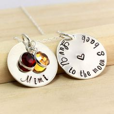 Mimi Necklace  Love You to the Moon and Back  by TNineDesign