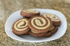 Chocolate and Vanilla Pinwheel Cookies with Variation