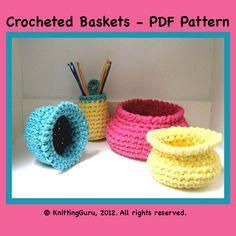 Crocheted Basket Patterns
