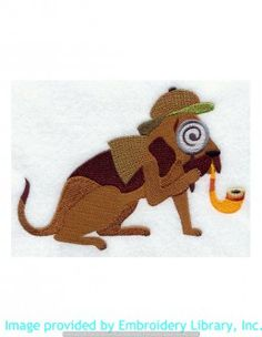 Stickmotiv Stickbild Aufnäher Stickerei Emblem Bluthund  Bluthund /  Stickerei Inspector Bloodhound (F4766)
