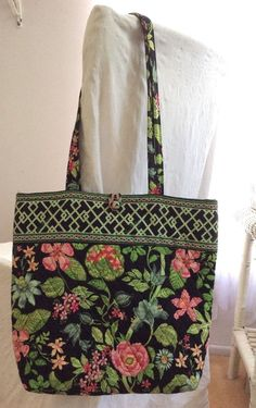 0529f2cd4862 VERA BRADLEY BOTANICA Floral Paisley Lattice Print Quilted Travel TOTE BAG  Purse  VeraBradley  ShoulderBag