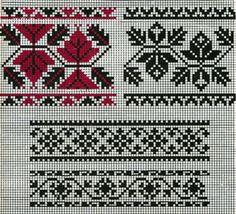 Яскраві та колоритні вишиті сорочки – вишиванки за останні кілька років перетворилися з просто красивого давнього народного одягу в модні елементи гардеробу практично кожного українця. Cross Stitch Borders, Cross Stitch Charts, Cross Stitching, Cross Stitch Patterns, Knitting Charts, Knitting Stitches, Knitting Designs, Knitting Patterns, Folk Embroidery