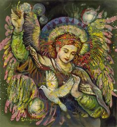 batik of the Angel Gabriel by Janet Searfoss