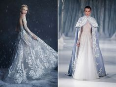 23 Utterly Romantic Wedding Dresses with Snowflake-Inspired Lace Details!