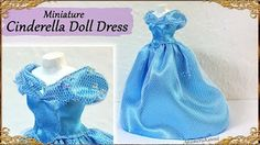 Miniature Prom Dress for Dolls - Fabric Tutorial - YouTube