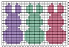 Crochet Bunny Pillow Sham - Repeat Crafter Me Hoppy Day! My bunny project is finished and I Crochet C2c, Crochet Rabbit, Easter Crochet, Crochet Pillow, Tapestry Crochet, Crochet Chart, Filet Crochet, Baby Knitting Patterns, Knitting Charts
