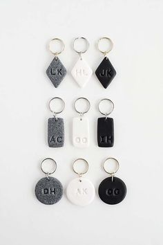 Fun Dollar Store Crafts for Teens - DIY Monogram Clay Keychains - Cheap and Easy DIY Ideas for Teenagers to Make for Dollar Stores - Inexpensive Gifts and Room Decor for Tweens, Boys and Girls - Awesome Step by Step Tutorials with Instructions for Cool DIY Projects http://diyprojectsforteens.com/dollar-store-crafts-teens