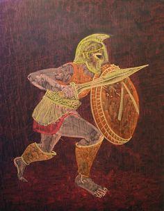 Waldorf ~ 5th grade ~ Ancient Greece ~ Spartans ~ chalkboard drawing: