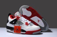 59c0c956dd0 Buy New Zealand Hot Sell Discount Nike Air Jordan 4 Iv Retro Womens Shoes White  Red Black from Reliable New Zealand Hot Sell Discount Nike Air Jordan 4 Iv  ...