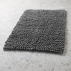 cirrus grey bath mat   CB2