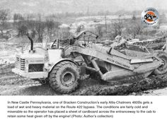 Building the Route 422 bypass in New Castle, Pennsylvania this is working in pretty miserable looking conditions. New Castle Pennsylvania, Road Construction, Newcastle, Tractors, Monster Trucks, Activities, Building, Classic, Pretty