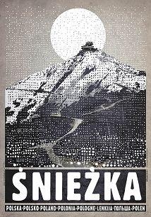 Ryszard Kaja - Śnieżka, plakat z serii Polska, Ryszard Kaja
