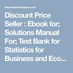 Test bank for international business 15th edition by daniels discount price seller ebook for solutions manual for test bank for statistics for fandeluxe Choice Image