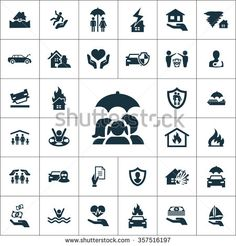 insurance Icons Vector set. insurance Icons Symbol set. insurance Icons Picture set. insurance Icon Image set. insurance Icons Shape set. insurance Icons Sign icons universal set for web and mobile